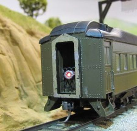 OMM 10001 Marker installed on Walthers 12-1 Pullman Sleeper